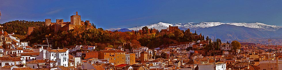 View of Alhambra and the Sierra Nevada
